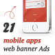 Mobile App Web Banner Ads - GraphicRiver Item for Sale