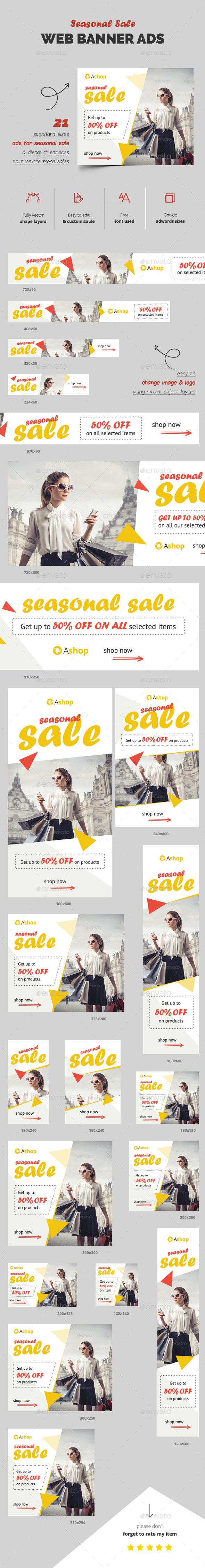 Seasonal Sale Banner Ads - Banners & Ads Web Elements