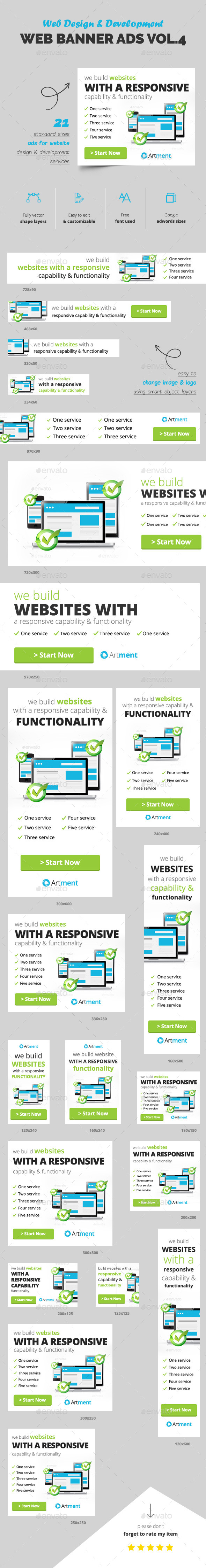 Web Design Banner Ads Vol.4 - Banners & Ads Web Elements