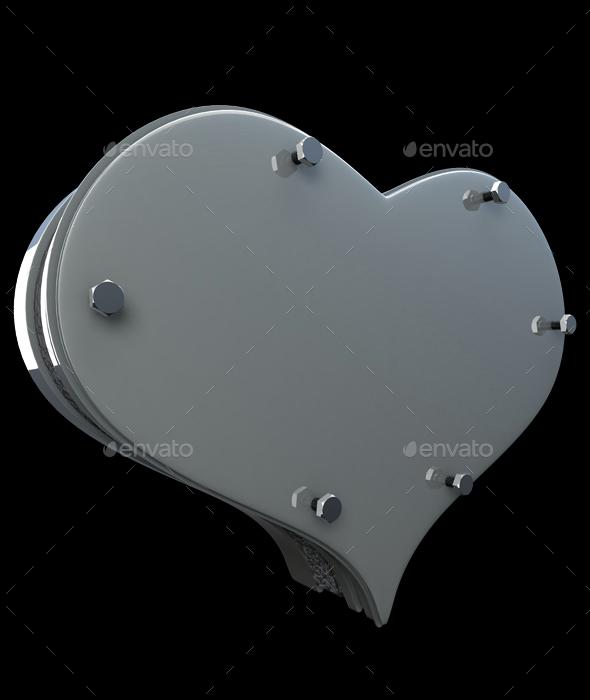 Steel Heart - Objects 3D Renders