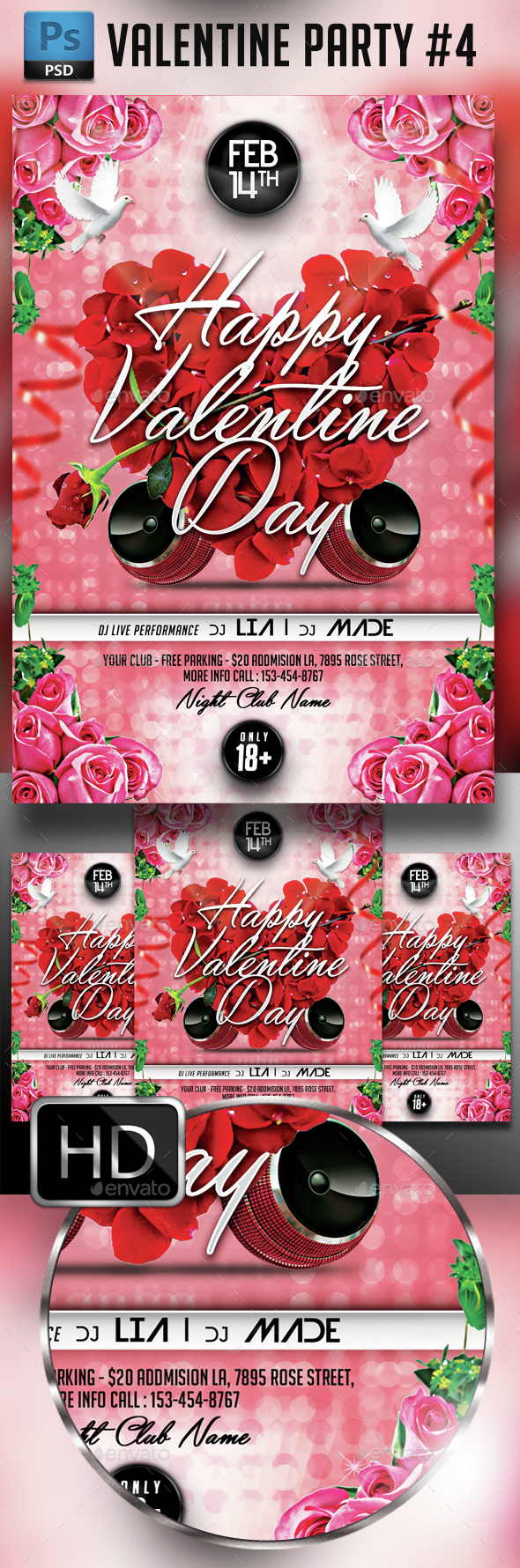 Valentines Days - Events Flyers