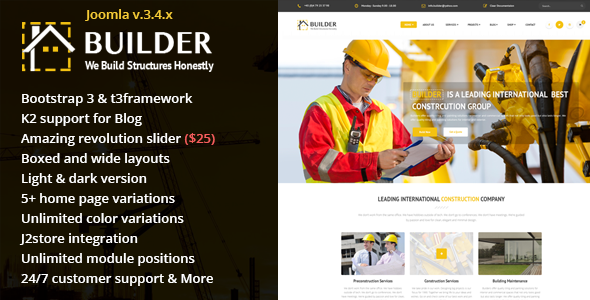 Builder – Building & Construction Joomla Template