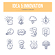 Idea & Innovation Doodle Icons - GraphicRiver Item for Sale