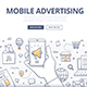 Mobile Advertising Doodle Concept - GraphicRiver Item for Sale