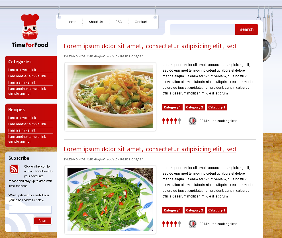 Free Download Time for Food Nulled Latest Version