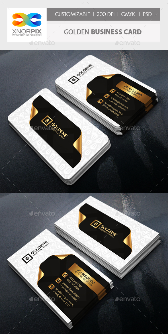 Golden Business Card - Corporate Business Cards