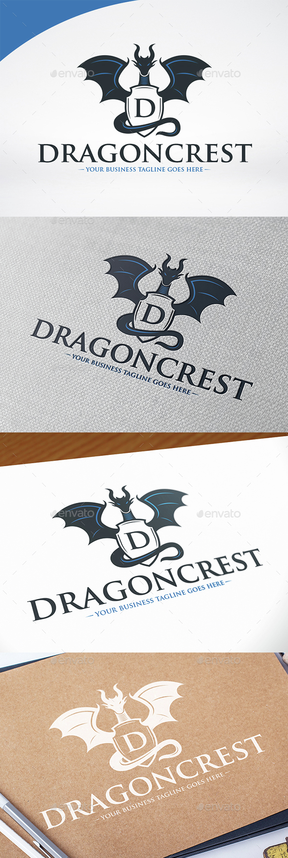 Dragon Crest Logo Template - Crests Logo Templates