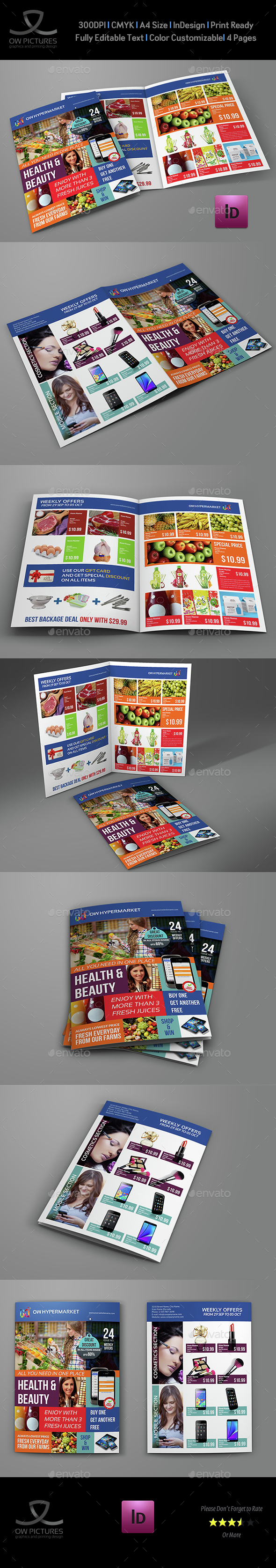 Supermarket Products Catalog Bi-Fold Brochure - Catalogs Brochures