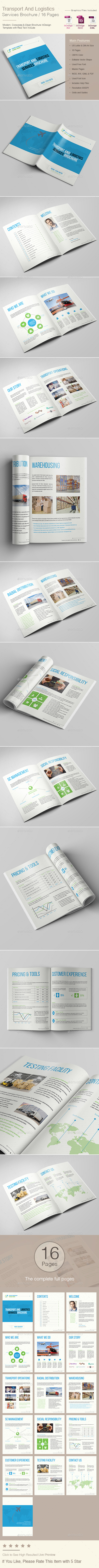Transport And Logistics Services Brochure - Corporate Brochures