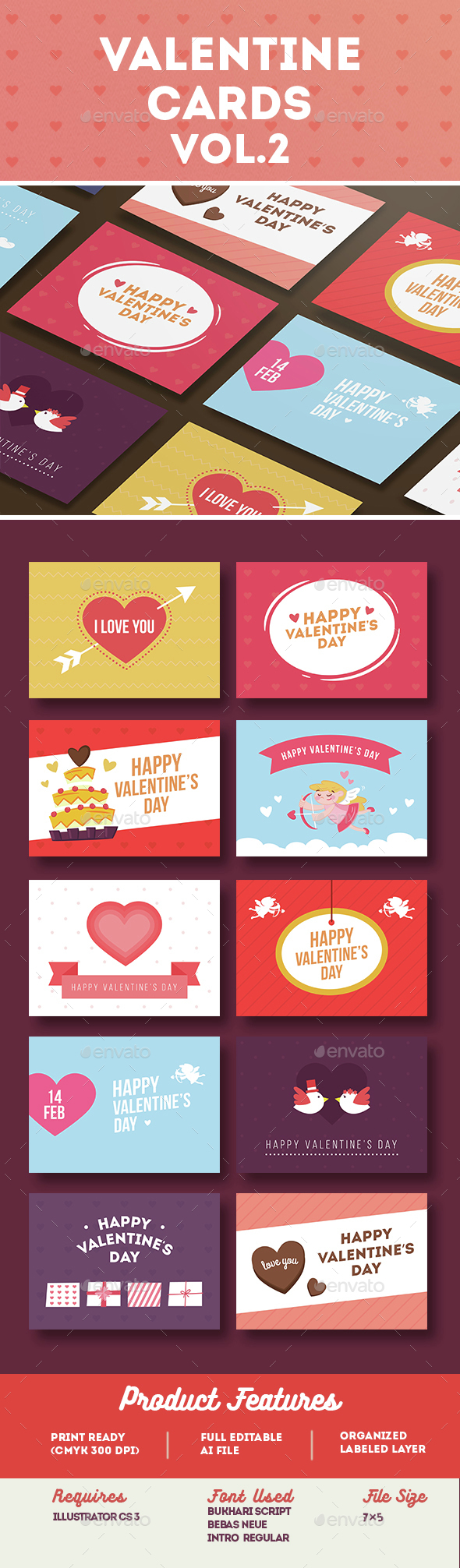 Valentine Card Vol.2 - Greeting Cards Cards & Invites