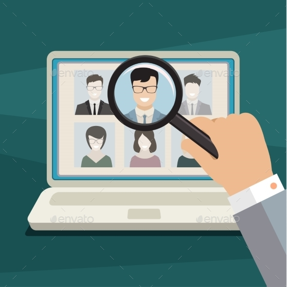 Concept of Searching for Professional Stuff - Concepts Business
