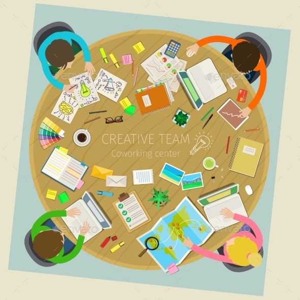 Concept of Creative Teamwork - Concepts Business