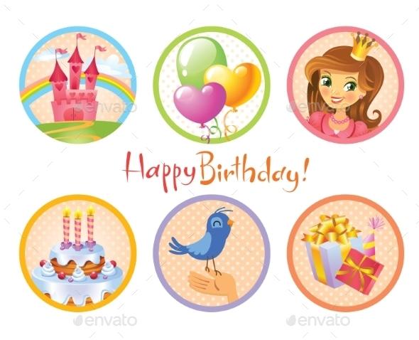 Birthday Stickers - Birthdays Seasons/Holidays