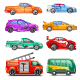 Car with Different Colors - GraphicRiver Item for Sale