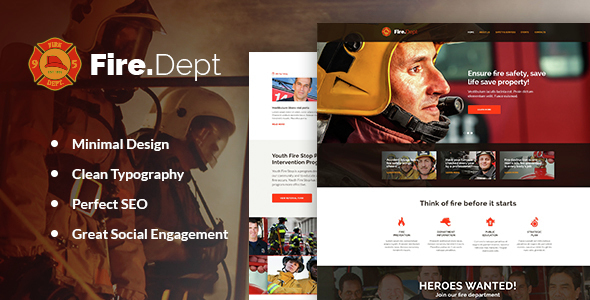 Fire Department - Fire Station and Security WP Theme
