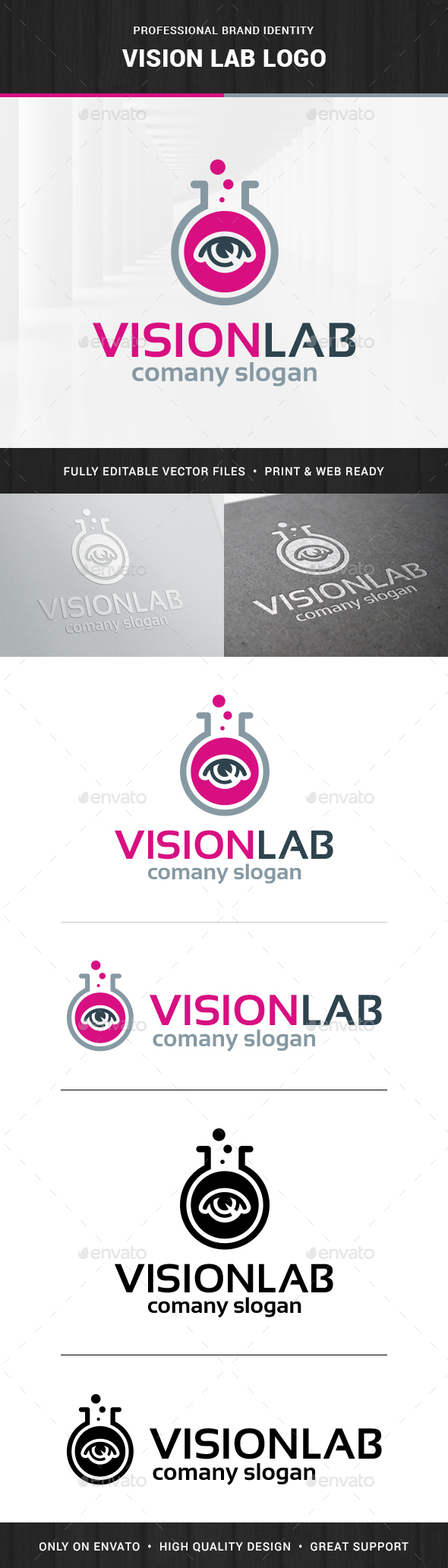 Vision Lab Logo Template - Objects Logo Templates