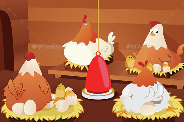 Chicken Hatching Eggs - Animals Characters