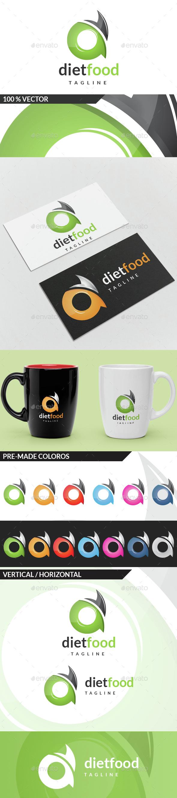 Diet Food - Letter D Logo