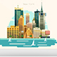 City Flat Skyline Modern Art Design Illustration - GraphicRiver Item for Sale