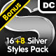16 Silver Styles Pack - GraphicRiver Item for Sale
