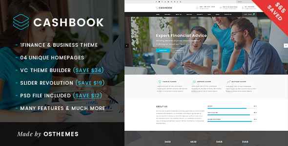 Cashbook – Business and Finance WordPress Theme