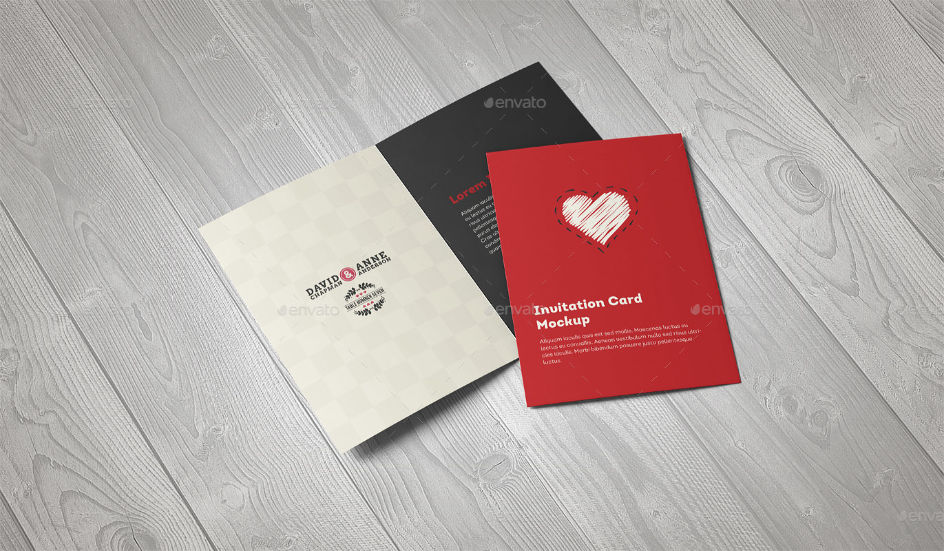 Invitation Greeting Card A5 Brochure Mockup By Webandcat