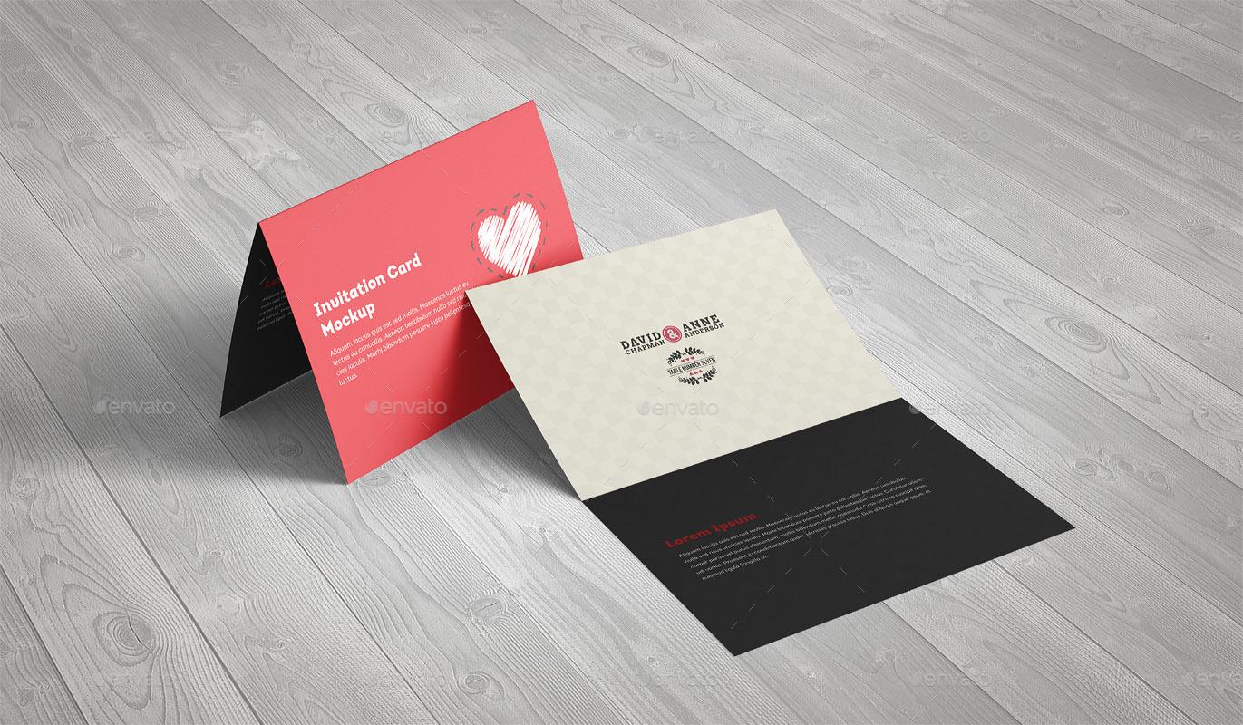Invitation Greeting Card A5 Brochure Mockup By Webandcat