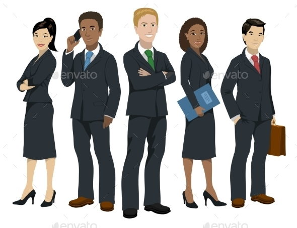 Business People Illustration - People Characters