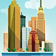 City Illustration New York Flat Design  - GraphicRiver Item for Sale