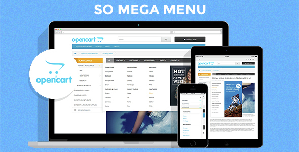 So Mega Menu - Drag & Drop | Responsive OpenCart 3.0.x & OpenCart 2.x Module - CodeCanyon Item for Sale