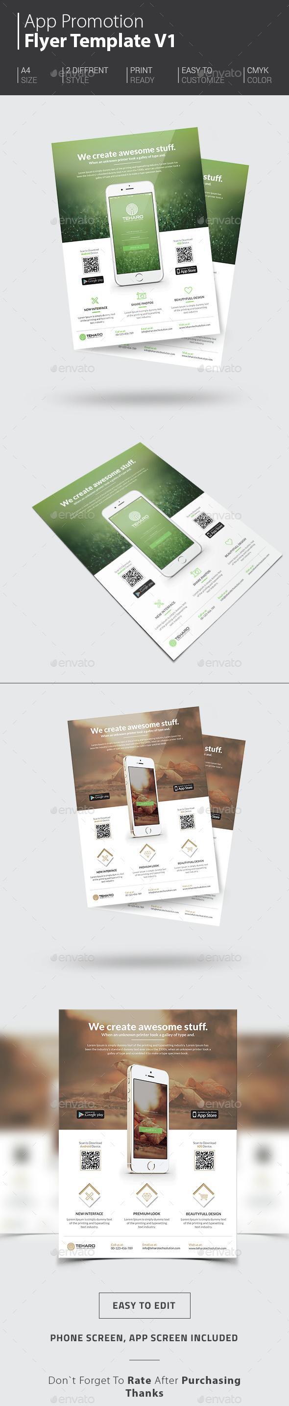 App Promotion Flyer - Commerce Flyers
