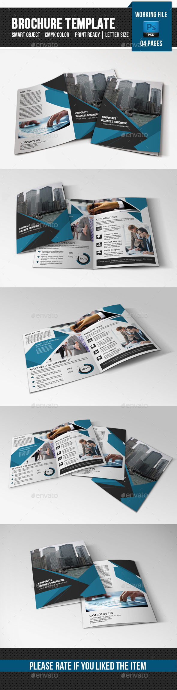 Business Brochure Template-V348 - Corporate Brochures