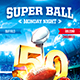 American Football Super Ball Flyer vol.3 - GraphicRiver Item for Sale