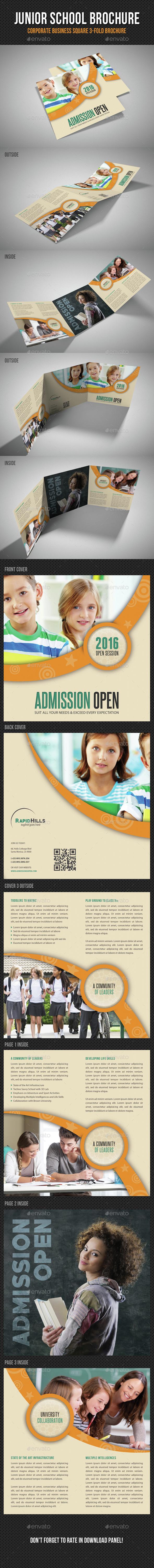 Junior School Square 3-Fold Brochure V02 - Informational Brochures