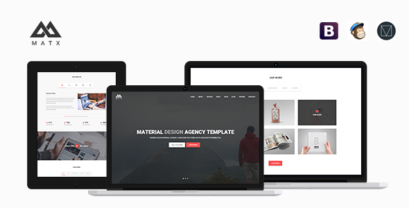 MATX – Material Design Agency Template