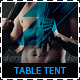Fitness and Gym Promotion Table Tent - GraphicRiver Item for Sale