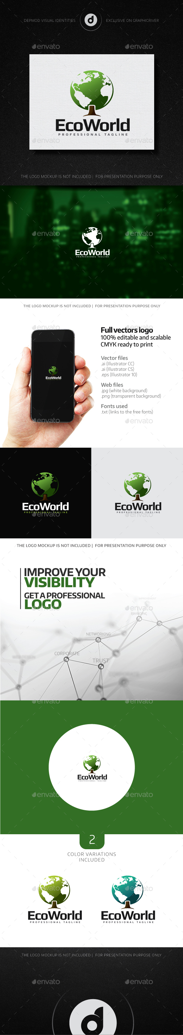 EcoWorld Logo - Nature Logo Templates