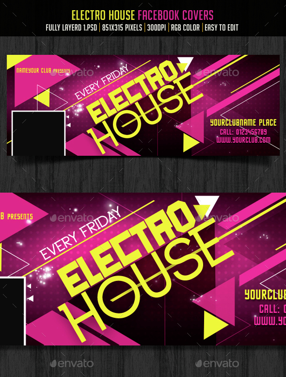 Electro House FB Cover - Facebook Timeline Covers Social Media