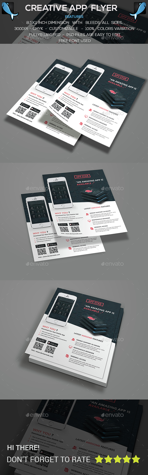 Mobile App Flyer - Corporate Flyers
