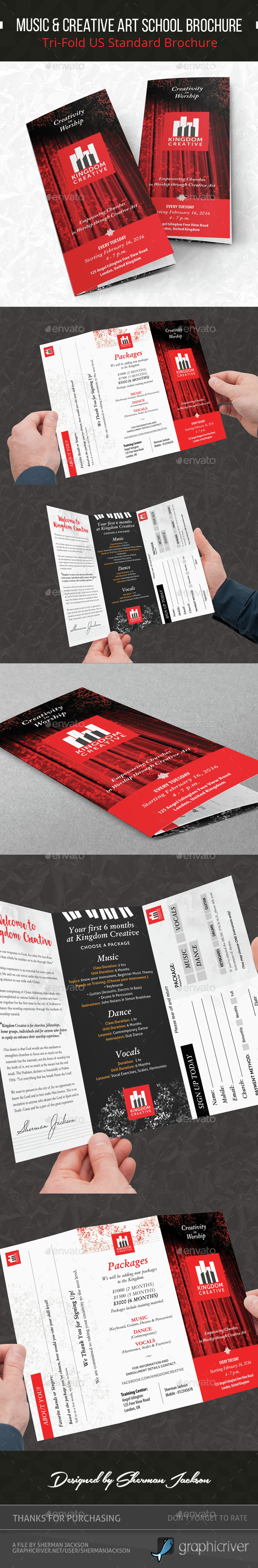 Music & Creative Art School Brochure - Informational Brochures