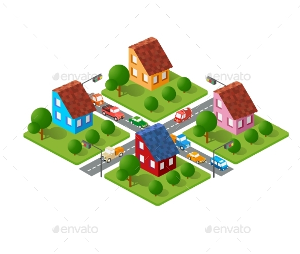 Large Set of Isometric - Buildings Objects