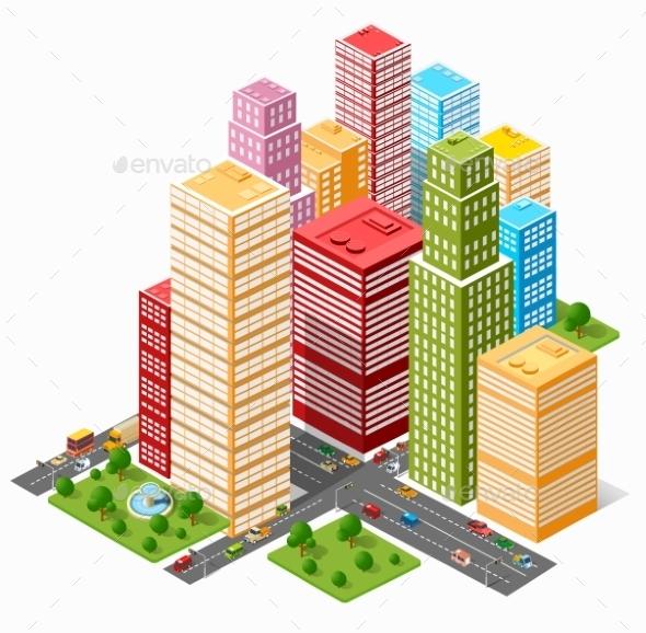 City  Skyscraper  - Buildings Objects