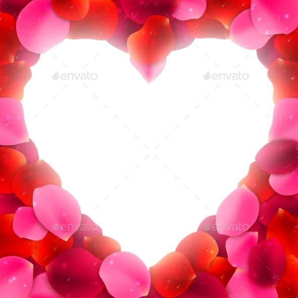 Rose Petals Frame - Valentines Seasons/Holidays