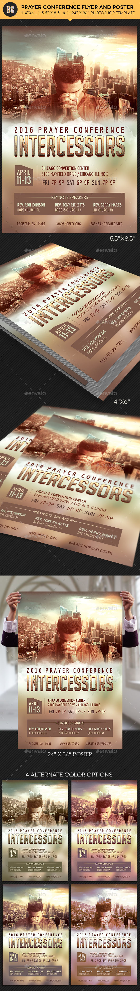 Prayer Conference Flyer Poster Template - Church Flyers