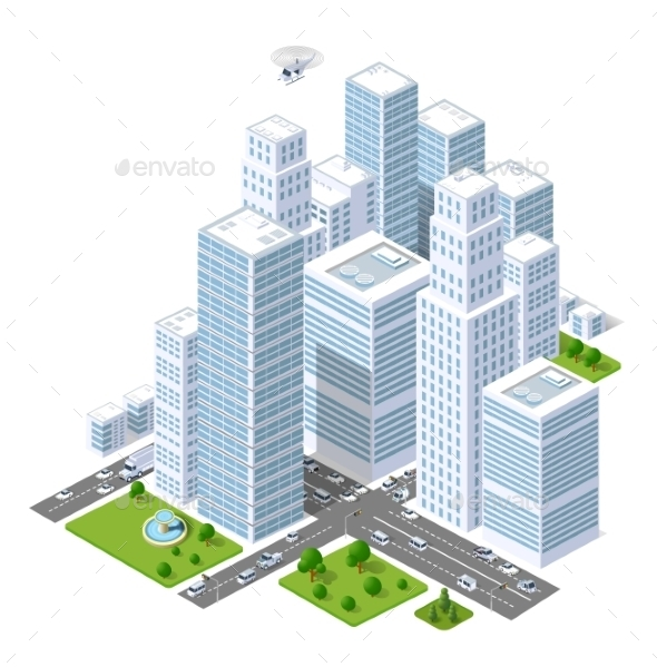 City  Skyscraper  - Buildings Objects