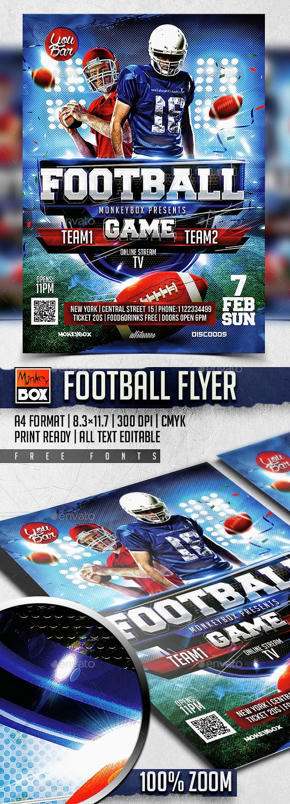 Football Flyer - Flyers Print Templates