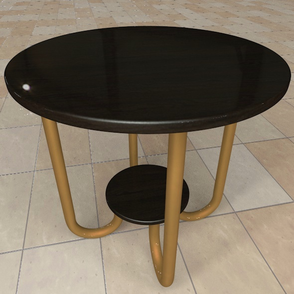 Wooden Round Table - 3DOcean Item for Sale