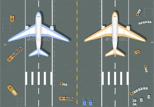 Overhead Point of View Airport - Travel Conceptual