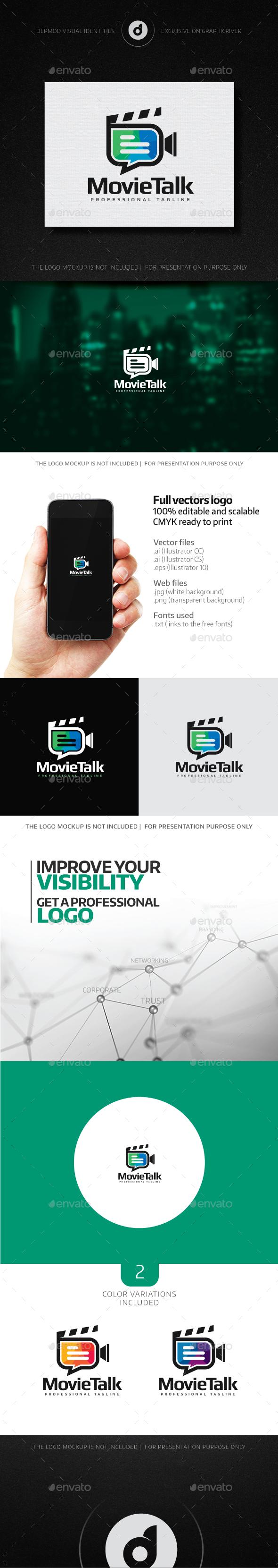 MovieTalk Logo - Objects Logo Templates