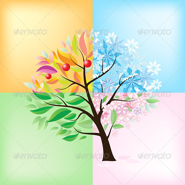 Four Seasons Tree - Seasons Nature